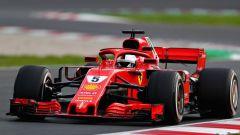 Sebastian Vettel con la Ferrari SF71H