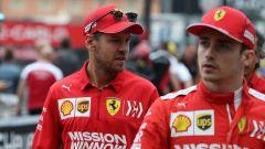 Sebastian Vettel e Charles Leclerc (Ferrari)