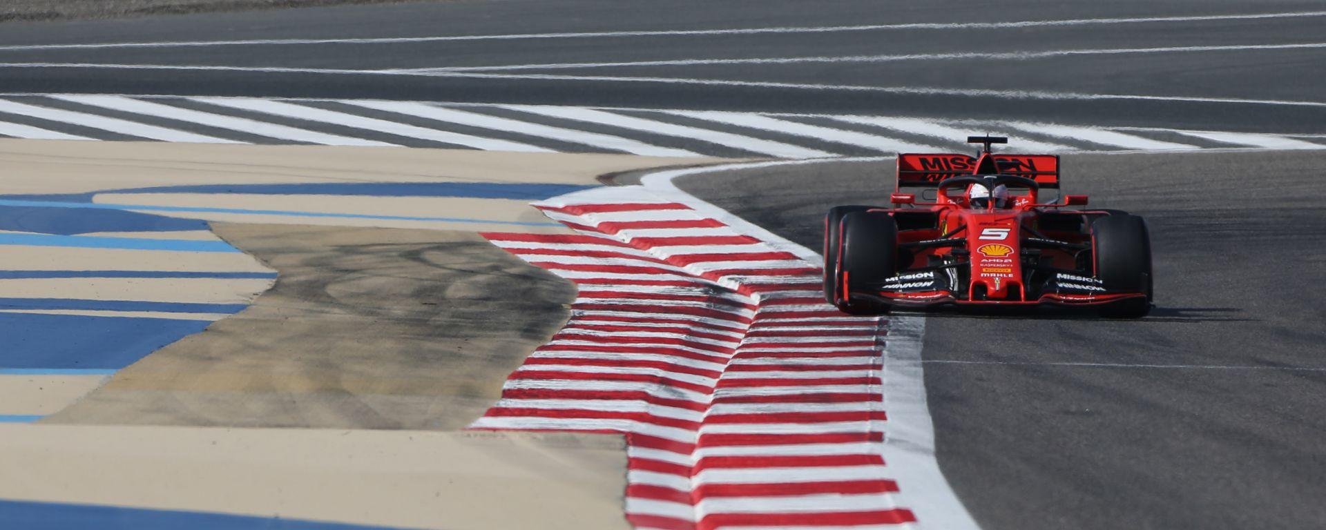 Sebastian Vettel è il più veloce nelle PL2 del Gp Bahrain 2019