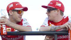 Sebastian Vettel e Kimi Raikkonen