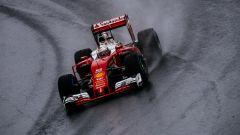 Sebastian Vettel e la sua Ferrari - GP Brazil