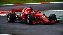 Sebastian Vettel in azione con la Ferrari SF71H