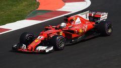 Sebastian Vettel in azione con la SF70H