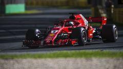 Sebastian Vettel in azione in Australia