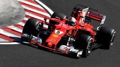 Sebastian Vettel in azione in Ungheria