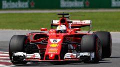 Sebastian Vettel in azione sulla SF70H