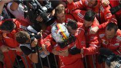 Sebastian Vettel insieme alla Scuderia Ferrari