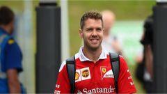 Sebastian Vettel nel Paddock della F1 - GP Austria
