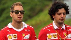 Sebastian Vettel nel tradizionale giro di pista prima dell'inizio del weekend di gara
