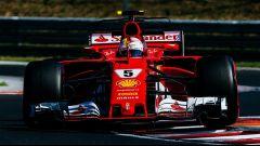 Sebastian Vettel sulla Ferrari SF70H