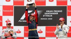 Sebastian Vettel - vittoria a Monza con la Toro Rosso STR3 (2008)