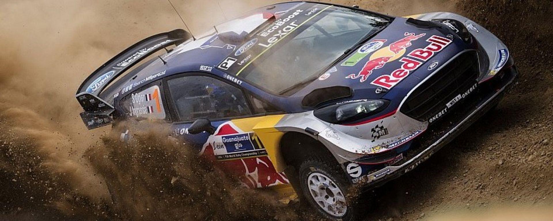 Sebastien Ogier al Rally del Messico con la sua Ford Fiesta WRC