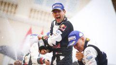 Sebastien Ogier alla sua prima vittoria con la Ford WRC M-Sport