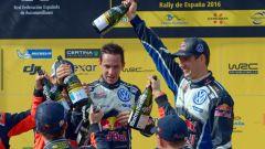 Sébastien Ogier / Julien Ingrassia sul podio - Rally Spagna 2016