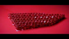 Sedili Porsche a guscio personalizzati: una delle imbottiture stampata in 3D