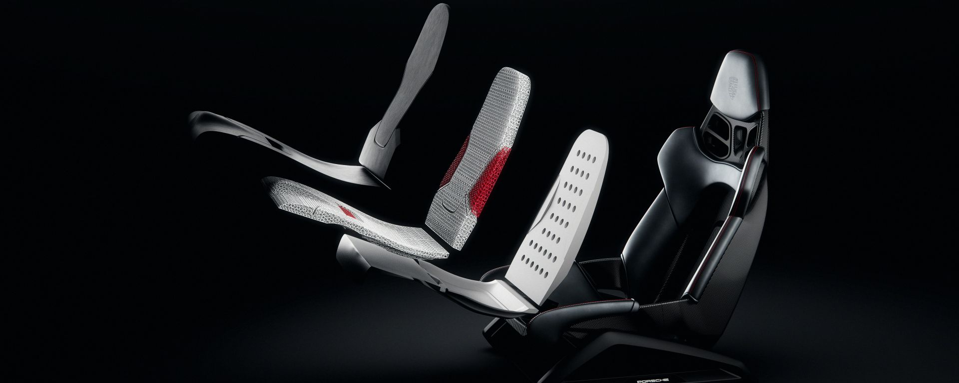 Sedili Porsche a guscio stampati in 3D: ecco lo spaccato