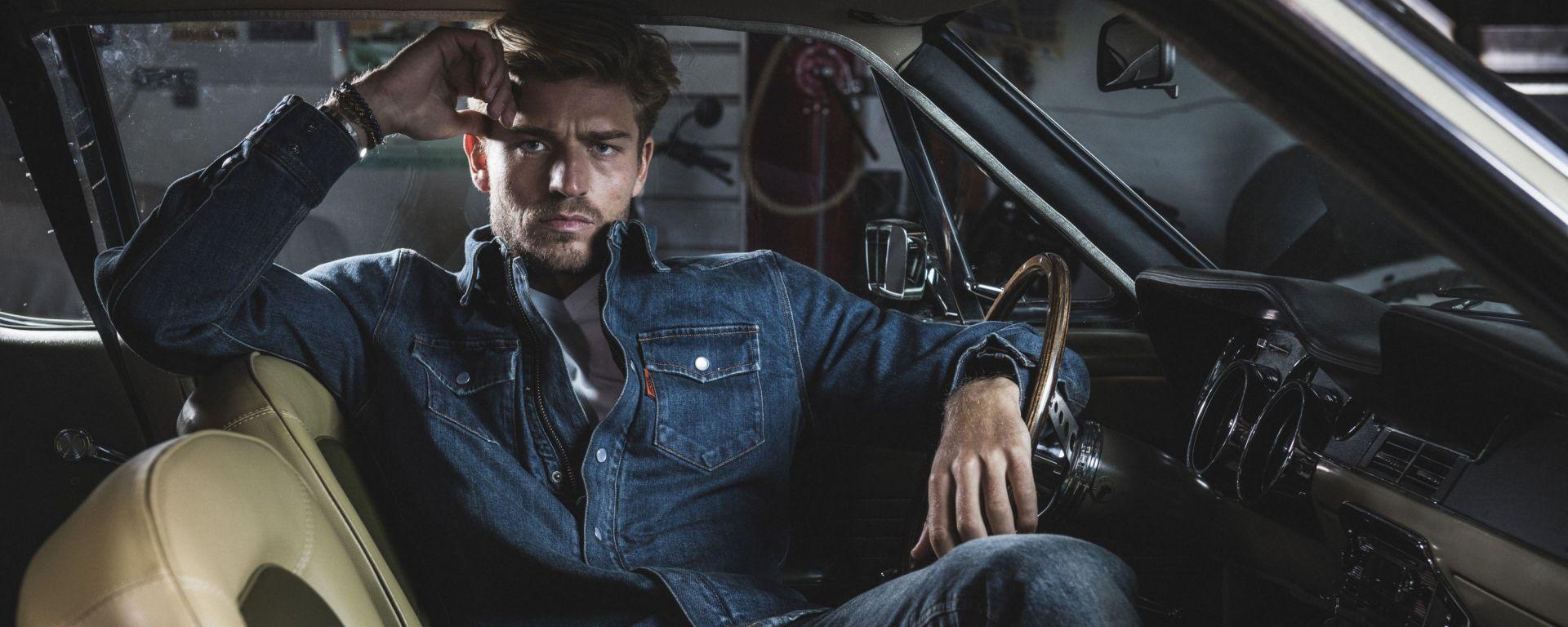 Segura Terence, camicia denim da moto