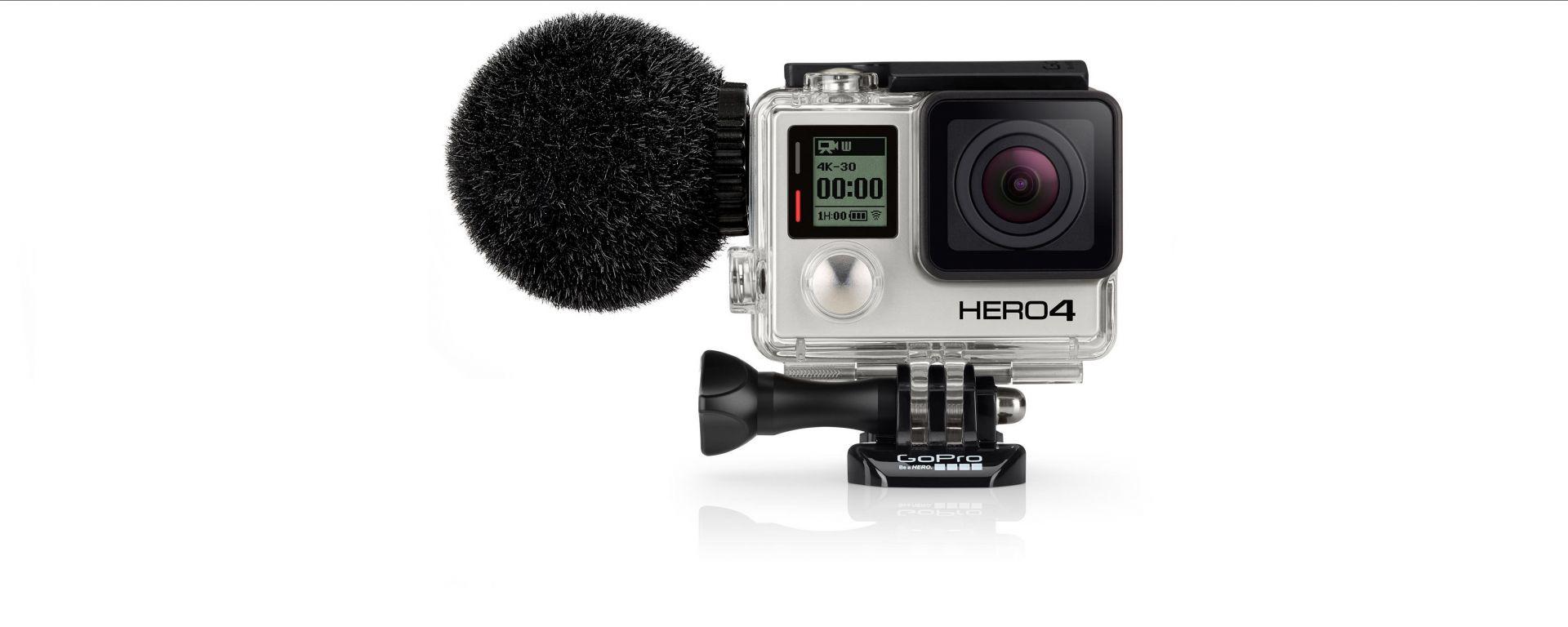 Sennheiser MKE2: microfono antivento per GoPro Hero 4
