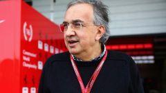 Sergio Marchionne ai box della Ferrari