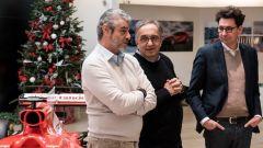 Sergio Marchionne al pranzo di fine anno in Ferrari