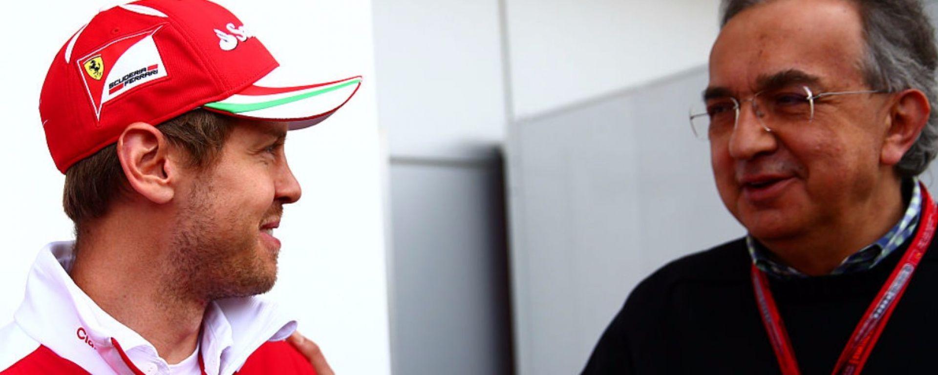 Sergio Marchionne e Sebastian Vettel