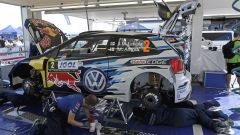 Service point per Latvala e Antilla - Polo WRC, Rally di Francia