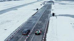 Sfida al limite: la drag race tra Audi RS e-tron GT e una Formula E