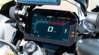 Sfida Maxi Enduro 2021: BMW R 1250 GS 2021, dettaglio della strumentazione