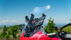 Sfida Maxi Enduro 2021: Ducati Multistrada V4 S, il suo parabrezza è il migliore per protezione e facilità di regolazione