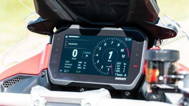 Sfida Maxi Enduro 2021: Ducati Multistrada V4 S, super tecnologica la strumentazione