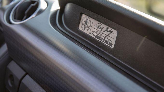 Shelby GT-H, la targhetta numerata sul cruscotto