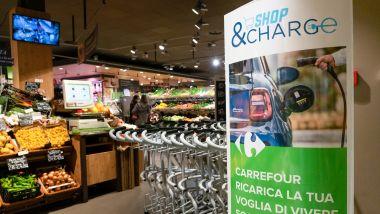 Shop & Charge, collaborazione tra Carrefour, FCA e Be Charge