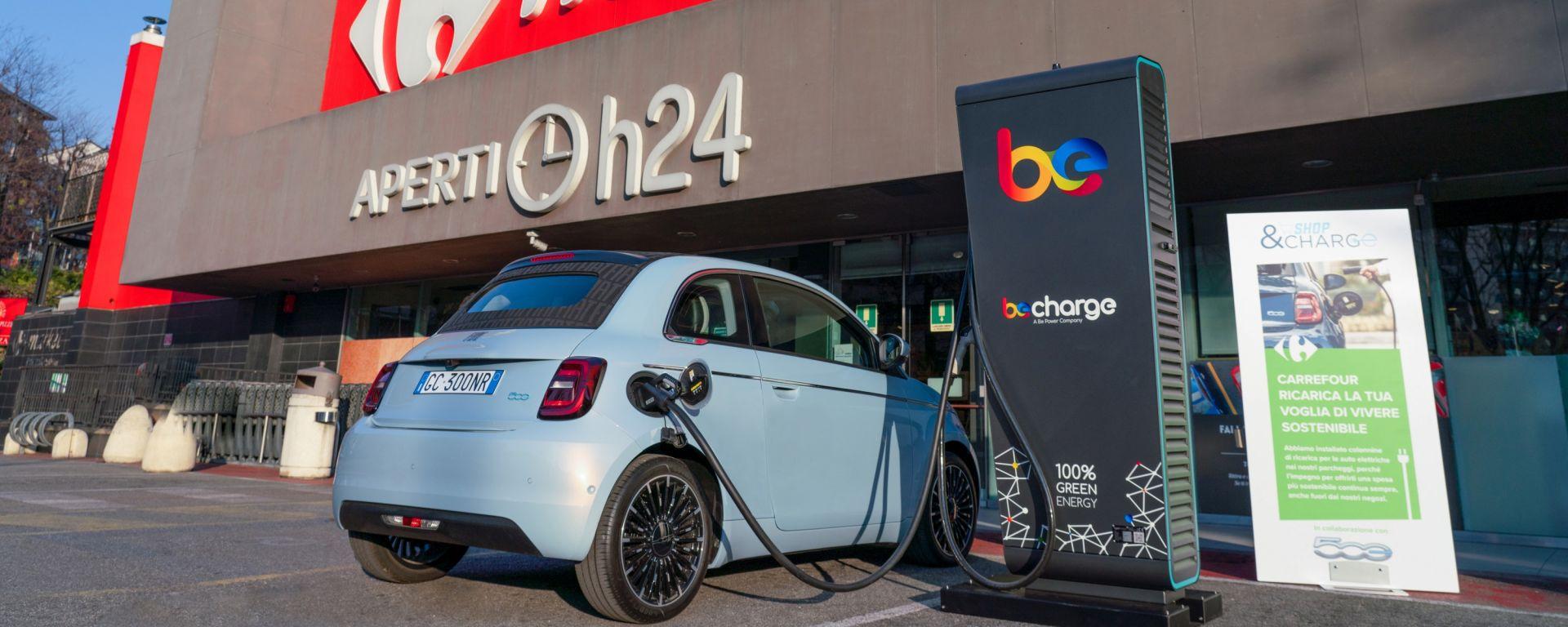 Shop & Charge, il programma di FCA, Carrefour e Be Charge