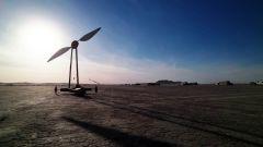 Si chiama Balckbird il veicolo a vento che va più veloce del vento