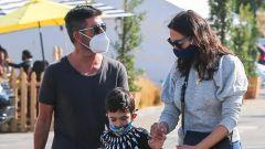 Simon Cowell con la compagna e il figlio