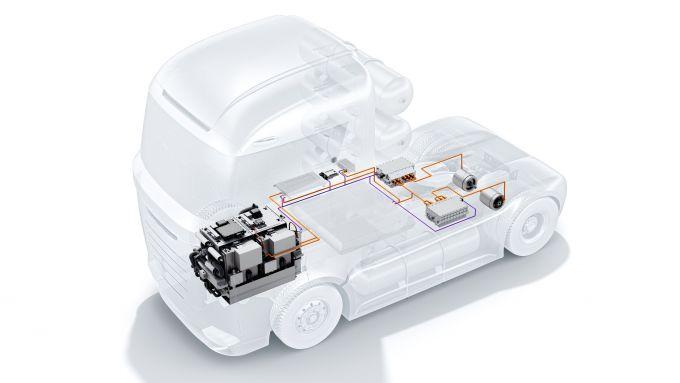 Sistema a fuel cell Bosch per il trasporto pesante