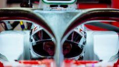 Sistema HALO sulla Ferrari di Vettel