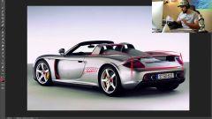 Sketch Monkey al lavoro su Porsche Carrera GT