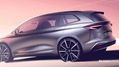 Skoda Enyaq iV: il nuovo SUV visto da dietro