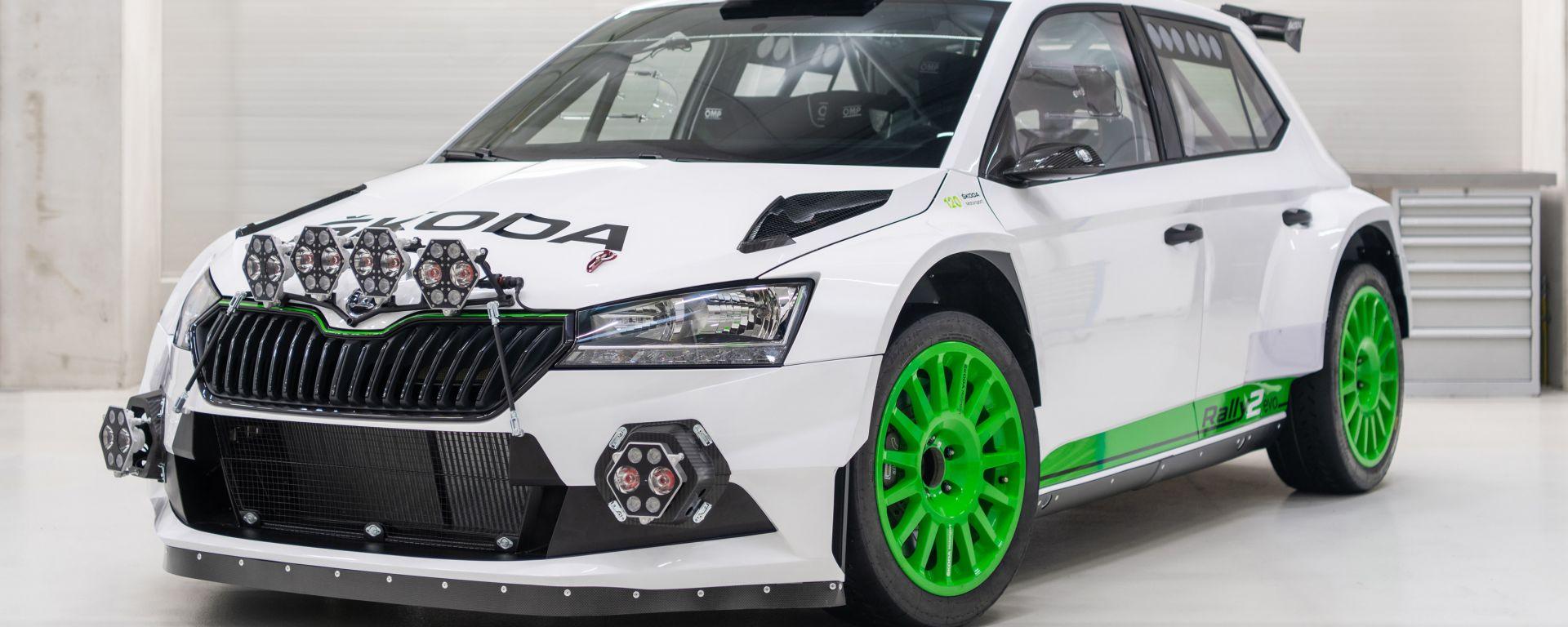 Skoda Fabia Rally2 evo 2021: frontale