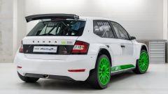 Skoda Fabia Rally2 evo 2021: posteriore
