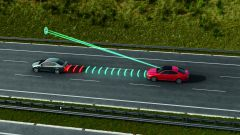 Skoda: immagine del funzionamento del cruise control adattivo