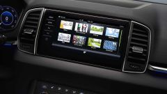 Skoda Karoq: il display dell'infotainment