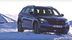 Skoda Kodiaq RS: sportivo, ma a suo agio sulla neve