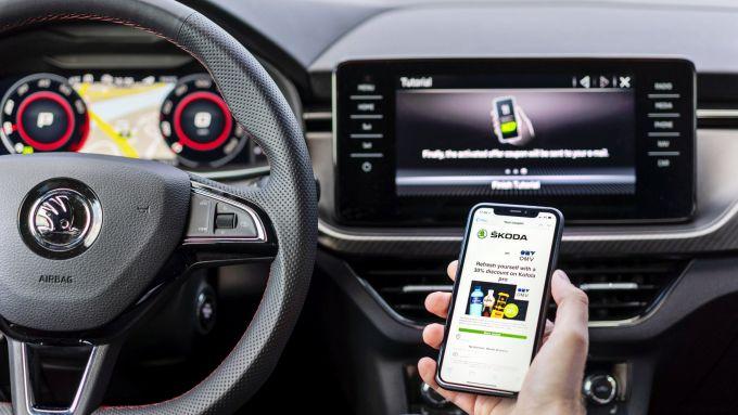 Skoda Marketplace, come funziona la pubblicità in auto