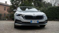 Skoda Octavia iV Wagon plug-in hybrid, dettaglio della calandra