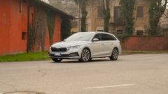 Skoda Octavia iV Wagon plug-in hybrid, un momento del test