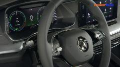 Skoda Octavia iV Wagon plug-in hybrid: volante e strumentazione Virtual Cockpit