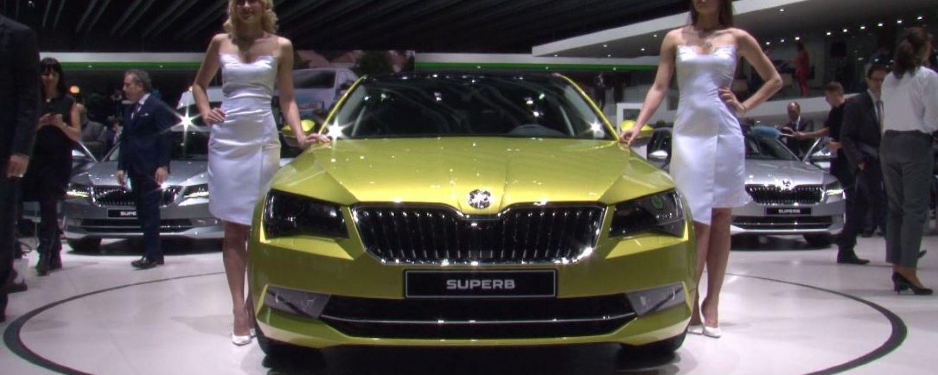 Skoda Superb 2015: il video dallo stand