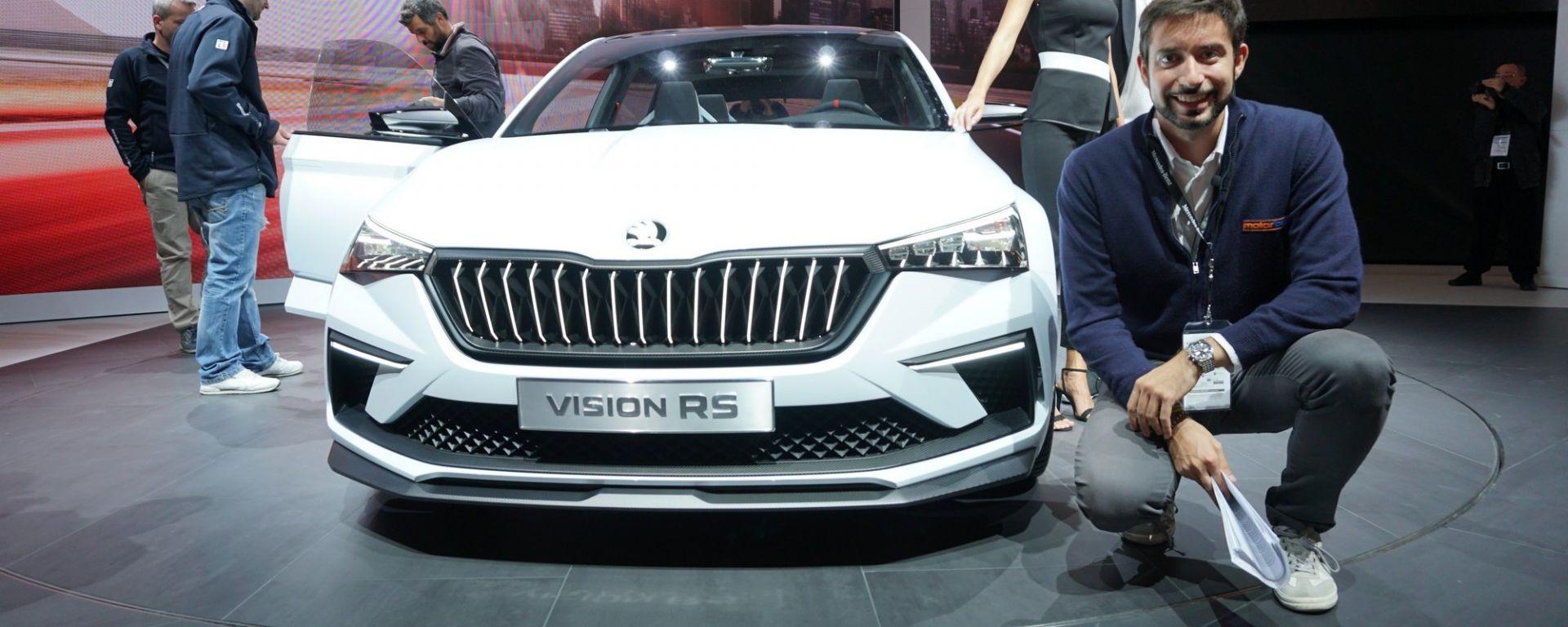 Skoda Vision RS Concept a Parigi 2018